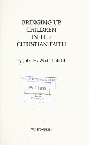 Bringing up children in the Christian faith