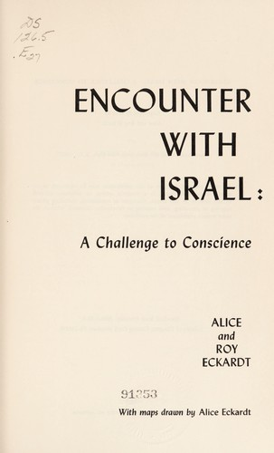 Encounter with Israel: a challenge to conscience
