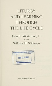 Liturgy and learning through the life cycle  Cover Image
